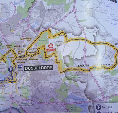 2 Tour Etappe Beginnt Mit 50km Schleife Rund Um Düsseldorf